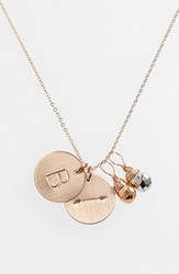 Women's Nashelle Pyrite Initial And Arrow 14K Gold Fill Disc Necklace Gold Pyrite Silver Pyrite B
