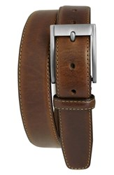 Men's Boconi 'Collins' Leather Belt Cognac