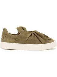 Ports 1961 Twist Effect Slip On Sneakers Green
