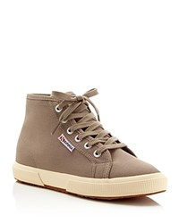 Superga Cotu Classic Lace Up High Top Sneakers Mushroom