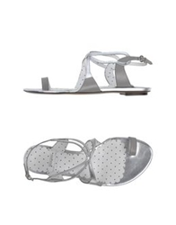 Moschino Cheap And Chic Moschino Cheapandchic Thong Sandals Silver