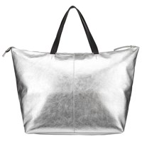 John Lewis Morgan Leather Tote Bag Silver