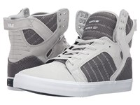 Supra Skytop Grey Violet Two Tone White Men's Skate Shoes