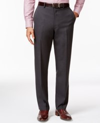 Alfani Red Charcoal Flat Front Pants Only At Macy's