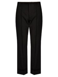Marc Jacobs Bowie Mid Rise Cropped Wool Trousers