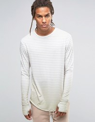 Granted Striped Longsleeve T Shirt Stone