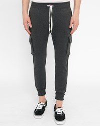 Sweet Pants Mottled Black Terry Cargo Joggers