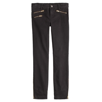 J.Crew Sateen Toothpick Pant With Zips Black