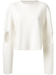 Dion Lee 'Circle' Sweater White