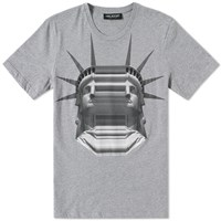Neil Barrett Stretched Liberty Tee Grey