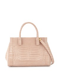 Daisy Medium Crocodile Satchel Bag Nude Matte Nancy Gonzalez