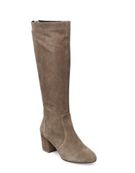 Steve Madden Haydun Suede Knee High Boots Taupe