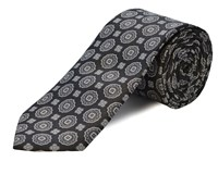 Double Two Polyester Tie Black
