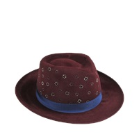 Etro Small Brimmed Hat With Strass