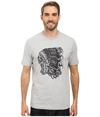 True Grit Vintage Screen Print Chief Short Sleeve Tee Heather Grey Men's T Shirt Gray