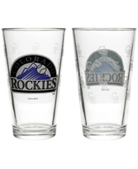Boelter Brands Colorado Rockies Elite Glass Pint 2 Pack Clear Team Color