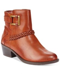 Easy Street Shoes Bridle Booties Women's Tan