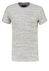 Your Turn Print Tshirt Mottled Light Grey
