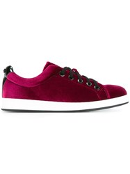 Kenzo 'K Lace' Sneakers Pink And Purple