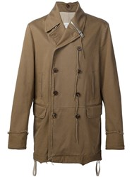 Maison Martin Margiela Double Breasted Coat Brown