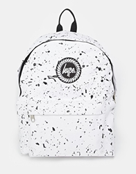 Hype Speckle Backpack White