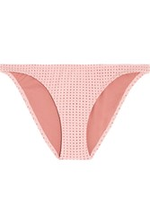 Melissa Odabash Aruba Perforated Bikini Briefs Blush