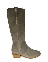 Jack Rogers Sawyer Knee High Suede Boots Grey