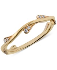 Macy's Diamond Band 1 10 Ct. T.W. In 14K White Yellow Or Rose Gold Yellow Gold