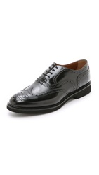 Doucal's Verona Wingtip Oxford Shoes Nero