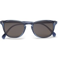 Oliver Peoples Finley Esq. D Frame Acetate Sunglasses Blue