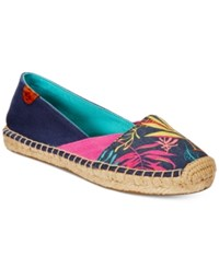 Sperry Cape Espadrille Flats Women's Shoes Navy Seaweed