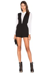 Bcbgeneration Deep V Romper Black And White