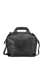 Delsey Gaite Personal 14' Leather Tote Black