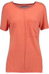 10 Crosby By Derek Lam Jersey T Shirt Orange