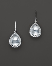 Ippolita Sterling Silver Rock Candy Small Teardrop Earrings In Clear Quartz No Color