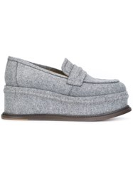 Maison Martin Margiela Platform Sole Creeper Loafers Grey