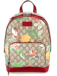 Gucci 'Gg Tian Supreme' Backpack Red