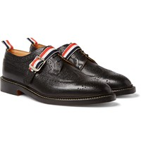 Thom Browne Pebble Grain Leather Wingtip Brogues Black