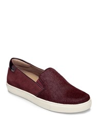 Aerosoles Milestone Leather Suede And Faux Leather Athletic City Sneakers Wine