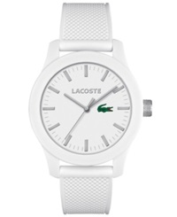 Lacoste Men's L.12.12 White Silicone Strap Watch 43Mm 2010762