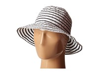 Lauren Ralph Lauren Poly Striped Signature Grosgrain Bucket Hat Pearl Black Bucket Caps Gray