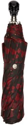 Alexander Mcqueen Red And Black Tartan Compact Umbrella