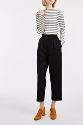 Acne Studios Milli Wool Trousers Navy