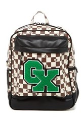 Gx By Gwen Stefani Lulu Faux Leather Checkered Backpack White