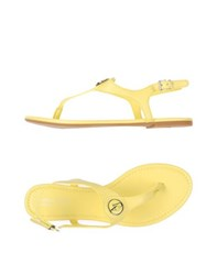 Armani Jeans Footwear Thong Sandals Women Yellow