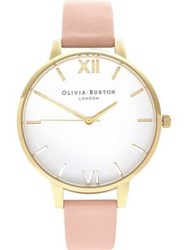 Olivia Burton Big White Dial Watch Pink