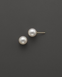 Bloomingdale's Akoya Cultured Pearl Stud Earrings 5Mm No Color