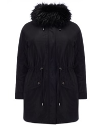 Studio 8 Plus Size Faith Parka Coat Black