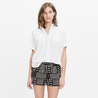 Madewell San Diego Cover Up Shorts In Arrow Grid