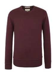 Racing Green Watt Crew Neck Knit Wine